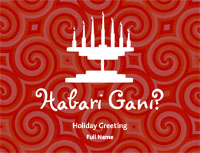 Kwanzaa3 Greeting Card (4x55)